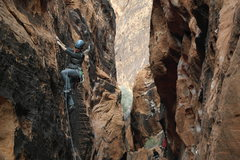 Rock Climbing Photo: Black Corridor, Second Pullout, Red Rock Canyon, N...
