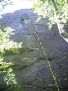 Rock Climbing Photo: Pickens Nose - TR Warrior Left