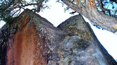 Rock Climbing Photo: The dihedral slab section of Apneic.  The center c...
