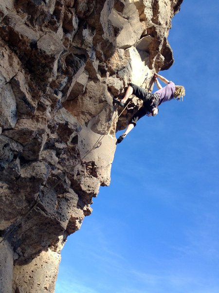 Rock Climbing Photo: Remy Franklin chasing the sun in Taos Christmas we...