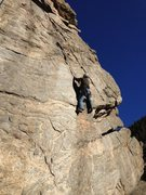 Rock Climbing Photo: At the crux.
