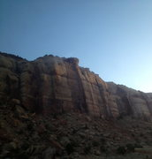 Rock Climbing Photo: cold morning. not one person in the canyon...time ...