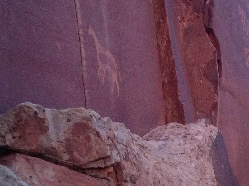 Rock Climbing Photo: glyphs..please respect