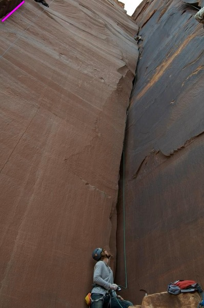 Rock Climbing Photo: some unknown corner offwidth just to the right of ...