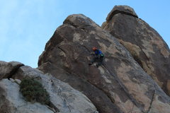 Rock Climbing Photo: Nearing the Crux on Scary Poodles