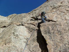 Rock Climbing Photo: The beginning of the route.