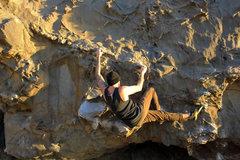 Rock Climbing Photo: Cruising through the opening moves