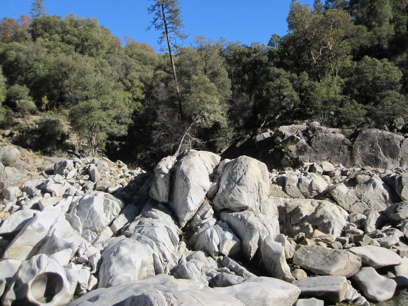 Rock Climbing Photo: In the trees, and slightly left of center photo is...