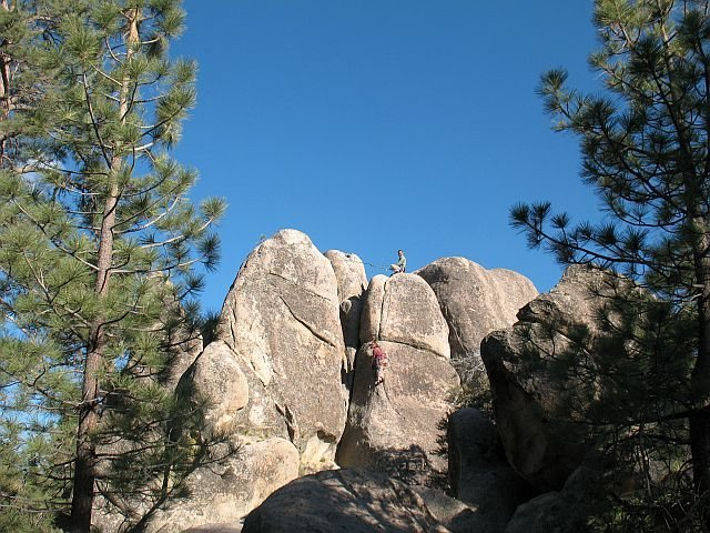 Gravity Kills (5.10a), Holcomb Valley Pinnacles