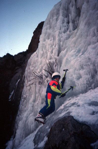 Mason Daly's first ice climb.