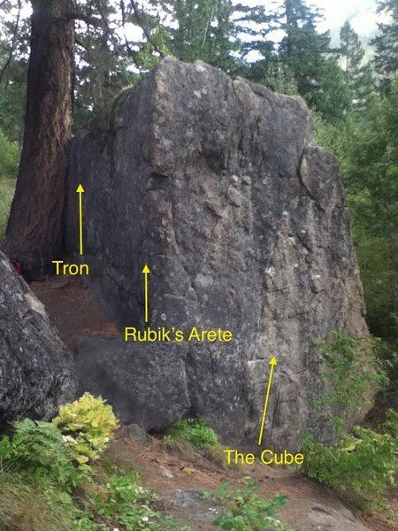Rock Climbing Photo: Tron v0 Rubik's Arete v0/1 The Cube v2  It's talle...