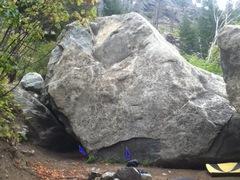 Rock Climbing Photo: The larger unearthed boulder: Lion's Den (steep) D...
