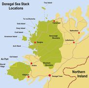 Rock Climbing Photo: Donegal Sea Stack location Map