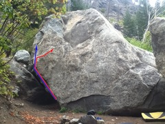 Rock Climbing Photo: I tried to show the alternate ending on Lion's Den...