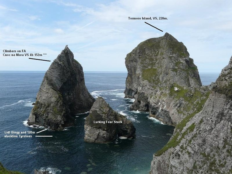 Rock Climbing Photo: Cnoc na Mara and Tormore Island