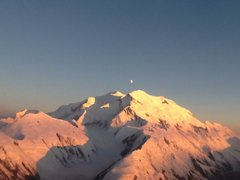 Rock Climbing Photo: Midnight over Denali...looking up the Muldrow