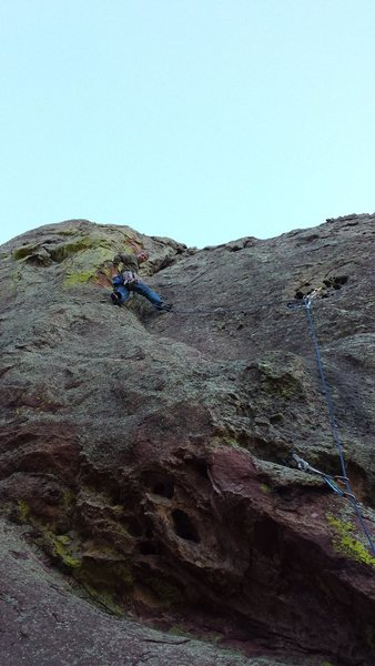 Rock Climbing Photo: Halfway up when you place the gear that gives you ...