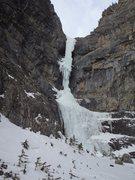 Rock Climbing Photo: Fearful Symmetry in big, December 2013.