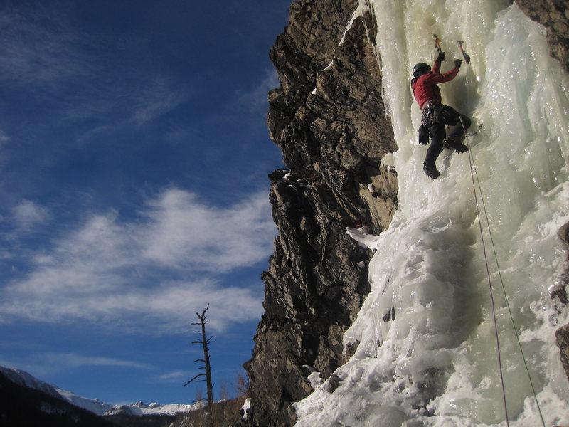 Rock Climbing Photo: Fun ice.