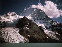 Rock Climbing Photo: North Face from Berg Lake 1984