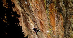 Rock Climbing Photo: Dan Levison cranking through the endless sea of co...