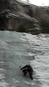 Rock Climbing Photo: Goofers on 12-28-13 thin start but very nice ice m...