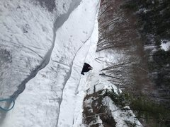 Rock Climbing Photo: Looking down the bulges on goofers