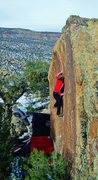 Rock Climbing Photo: Working the moves on Sage Truth.
