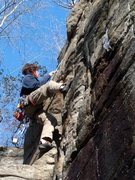 Rock Climbing Photo: Me on a tr of Clark Bar Crack