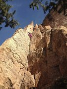 Rock Climbing Photo: Meaghan on the warm-up.