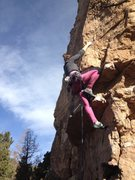 Rock Climbing Photo: Meaghan on the bouldery start.