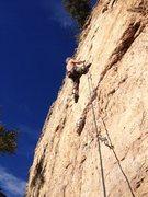 Rock Climbing Photo: A December onsight.