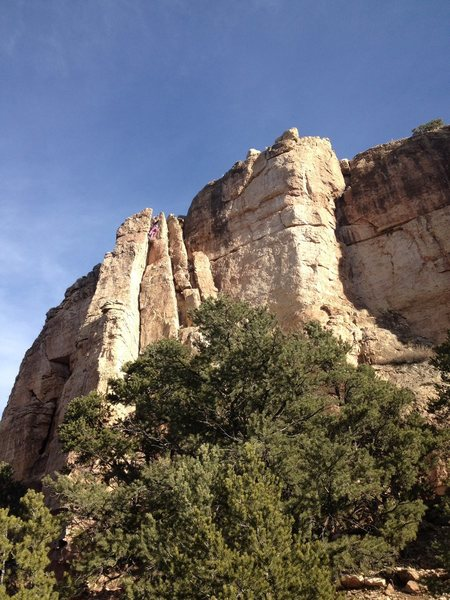 Rock Climbing Photo: Rigging the descent.