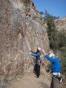 Rock Climbing Photo: Suzanne and Susan at the start of 'Little Meteor S...