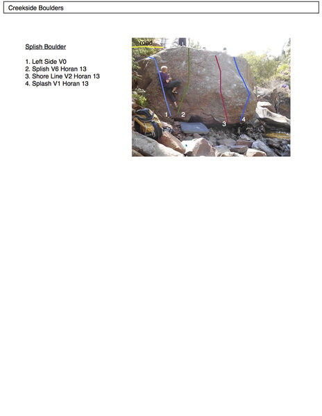 Rock Climbing Photo: The Splish Boulder.