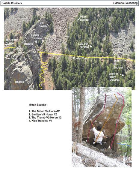 Rock Climbing Photo: The Mitten Boulder.