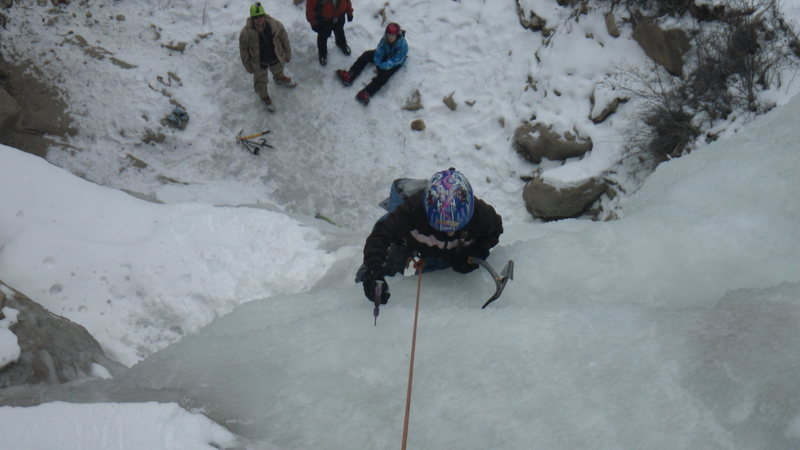 Rock Climbing Photo: 12 year old daughter on CCC falls Dec 23