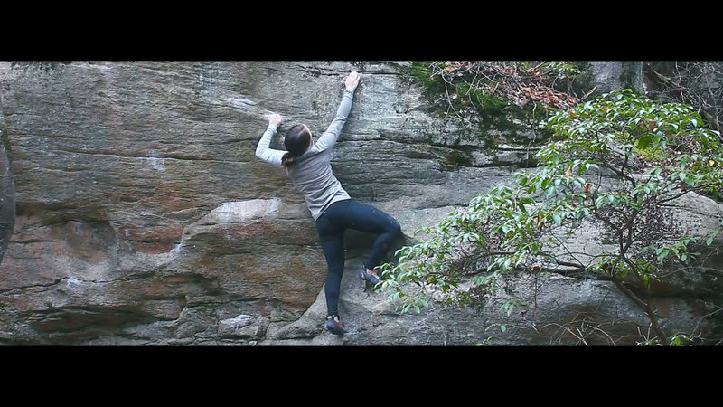 Rock Climbing Photo: Start on the low jug, crimp up, and top out straig...