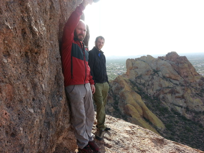 Aaron and Russell on Greevers' Needle
