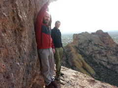 Rock Climbing Photo: Aaron and Russell on Greevers' Needle
