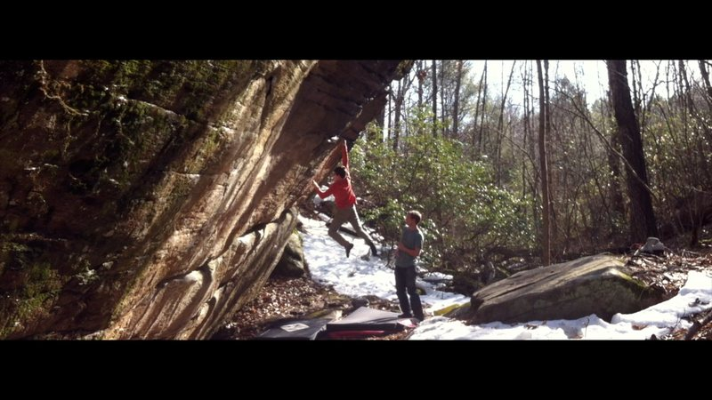 Rock Climbing Photo: The throw on Little Debbie.