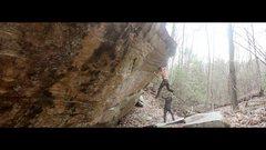 Rock Climbing Photo: The dyno on Sleeping Giant.
