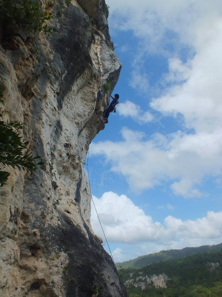 Rock Climbing Photo: Triboro Direct, Caliche, Ciales, Puerto Rico