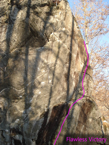 Rock Climbing Photo: This is most of the line. it cuts off the start an...