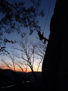 Rock Climbing Photo: Ollie repelling.