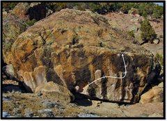 Rock Climbing Photo: Down Draper problem beta.