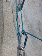 Rock Climbing Photo: The Munter Hitch before tying it off with a Mule o...
