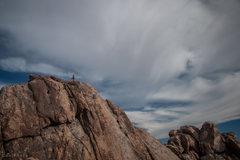 Rock Climbing Photo: Juyen Lee on a beautiful day in Sheep Pass.