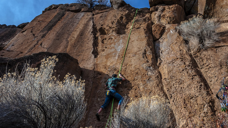 Rock Climbing Photo: New start to an older route.