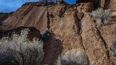 Rock Climbing Photo: Dyno? at Farewell